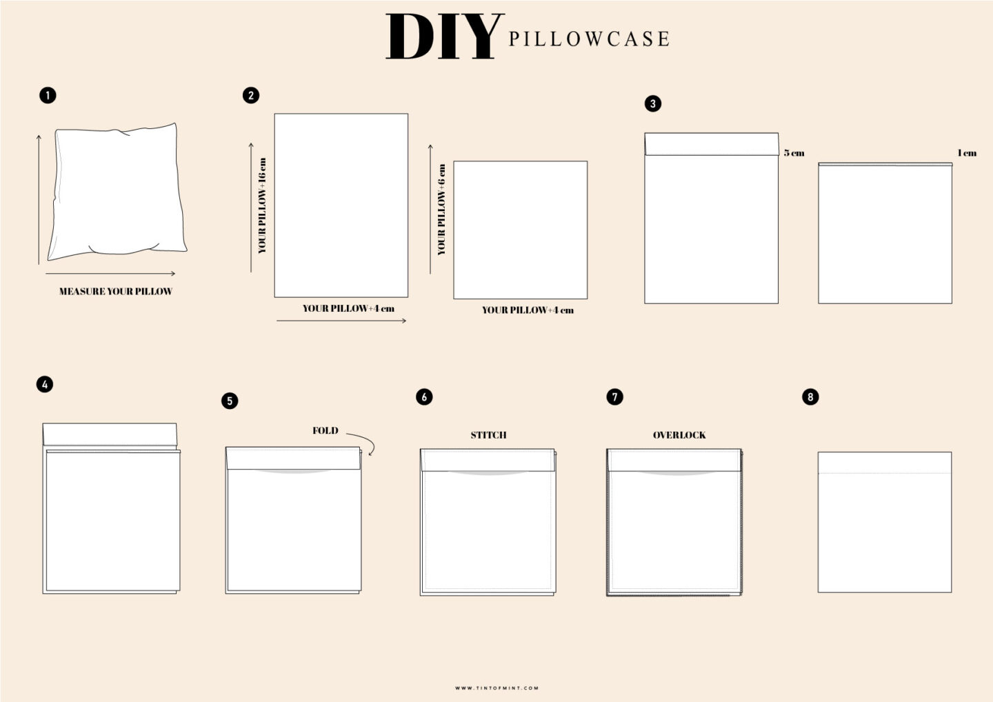 Diy Linen Pillowcases Sewing Tutorial Easy Step By Step Guide